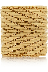 Givenchy Woven Ring In Gold Tone Brass