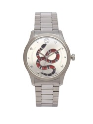 Gucci G Timeless Kingsnake Watch Silver