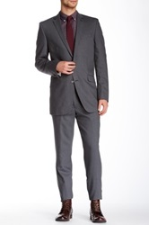 Ben Sherman Kings Fit Notch Lapel Two Button Wool Suit Gray