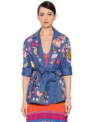 Temperley London Embroidered Cool Wool And Linen Jacket
