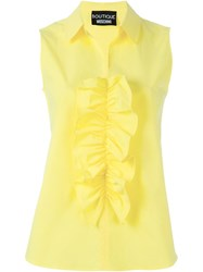 Boutique Moschino Ruffle Front Blouse Yellow And Orange