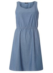 Dorothy Perkins Only Blue Chambray Fit And Flare Dress