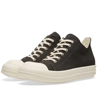 Rick Owens Drkshdw Canvas Low Sneaker Black