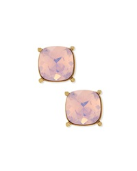 Crystal Stud Earrings Light Gold Rosewater St. John Collection
