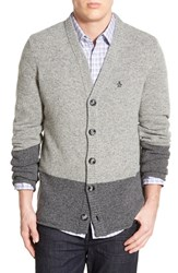 Men's Original Penguin Trim Fit Colorblock Lambswool Blend Cardigan