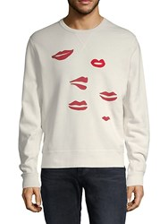 7 For All Mankind Eyes And Lips Cotton Sweatshirt Ivory