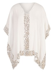 Chesca Sequin Detail Cover Up White
