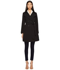 Diane Von Furstenberg Double Breasted Belted Trench Coat Stone