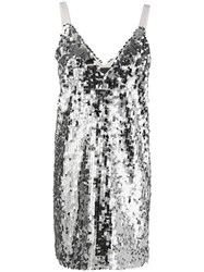 8Pm Sequined Mini Dress Silver