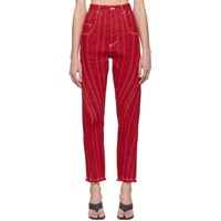 Thierry Mugler Red Seam Jeans