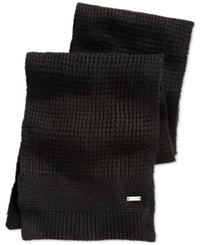 Ryan Seacrest Distinction Ryan Seacrest Waffle Knit Scarf Only At Macy's Black