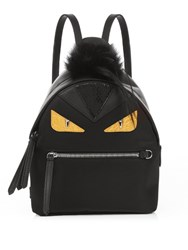Fendi Bag Bugs Mini Nylon And Fur Backpack Black Multi