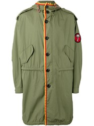 Marc Jacobs Oversize Parka Coat Green