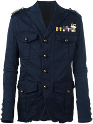 Dsquared2 'Golden Arrow' Military Jacket Blue
