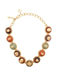 Oscar De La Renta Stone Embellished Necklace Gold