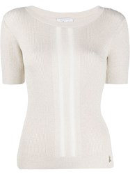 Patrizia Pepe Fine Knit Ribbed T Shirt 60
