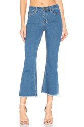 Amuse Society Coastline High Waist Flare Jean Light Blue