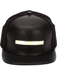 Melin Leather Baseball Cap Black