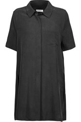 Equipment Coralie Washed Silk Shirt Charcoal