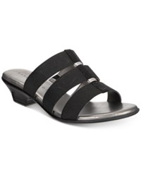 Karen Scott Erinn Slip On Sandals Created For Macy's Women's Shoes Black