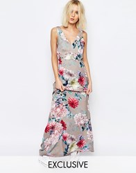Every Cloud Botanical Floral Yang Maxi Dress Multi