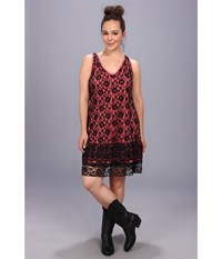 Roper Plus Size 9063 Cotton Slub Jersey Dress Red Women's Dress