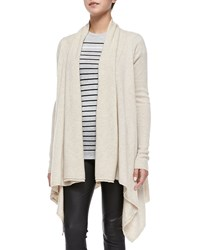 Vince Draped Open Front Cardigan Heather Khaki