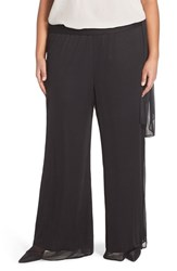 Plus Size Women's Alex Evenings Tie Waist Wide Leg Pants
