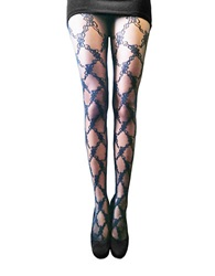Zac Posen Lace Vine Fashion Tights Black
