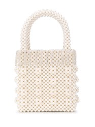 Shrimps Huckleberry Faux Pearl Tote 60