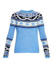 Banjo And Matilda Star Fair Isle Intarsia Knit Sweater