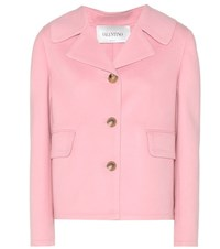Valentino Virgin Wool And Cashmere Jacket Pink