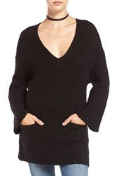 Sun And Shadow Women's Knit Bell Sleeve Tunic
