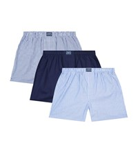 Polo Ralph Lauren Classic Cotton Boxers Pack Of 3 Male Blue