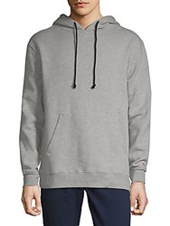 Hudson Heathered Pullover Hoodie Heather Grey