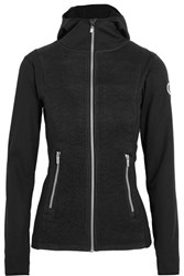 Fusalp Mures Stretch Jersey And Quilted Satin Jacket Black