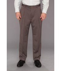 Perry Ellis Classic Fit Double Pleat Micro Melange Pant Grey Heather Men's Dress Pants Gray