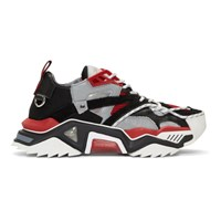Calvin Klein 205W39nyc Black And Red Strike 205 Sneakers