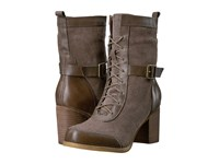 Sbicca Talken Taupe Women's Lace Up Boots