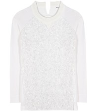 Sonia Rykiel Embellished Cotton Sweater White
