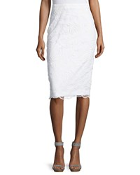Philosophy Lace Pencil Skirt White