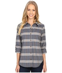 Pendleton Riley Shirt Navy Plaid Women's Long Sleeve Button Up Blue