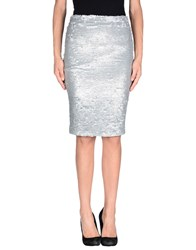 American Retro Skirts Knee Length Skirts Women Silver