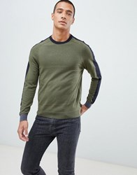 Ted Baker Jumper With Panel Colour Block Green