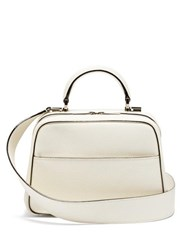 Valextra Serie S Small Grained Leather Bag White