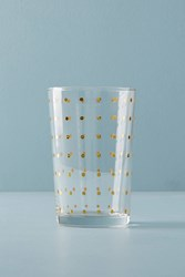 Anthropologie Dotted Juice Glass Gold