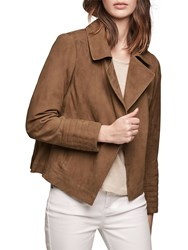 Gerard Darel Viggo Leather Jacket Camel
