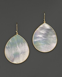 Ippolita 18K Gold Polished Rock Candy Jumbo Teardrop Earrings In Mother Of Pearl