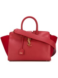 Saint Laurent Small 'Cabas Monogram' Tote Red