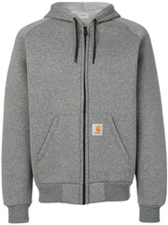 Carhartt Car Lux Hooded Jacket Cotton Polyester L Grey